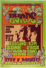 (BG-82)  The Byrds, Fillmore Auditorium *Mint Condition*