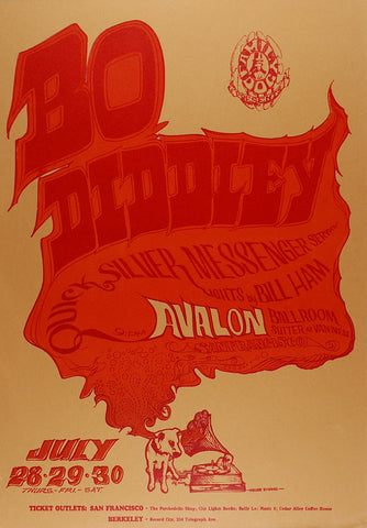 (FD-18) Bo Diddley, Avalon Ballroom *Mint Condition*