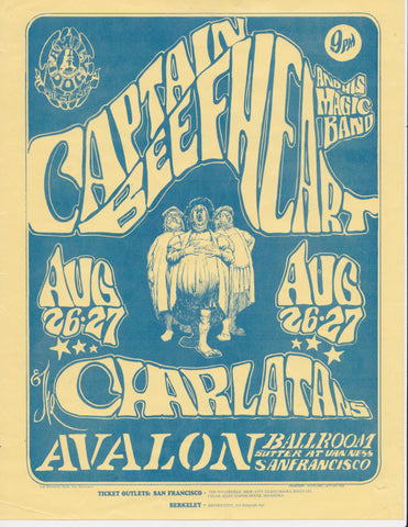 (FD-23-Handbill) Captain Beefheart and His Magic Band, Avalon Ballroom *Near Mint 83*