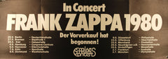 1980 Frank Zappa Original Germany Tour Poster *Excellent 79*