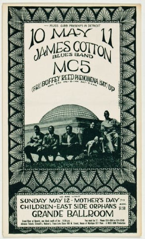 James Cotton Blues Band, Grande Ballroom *Mint Condition*