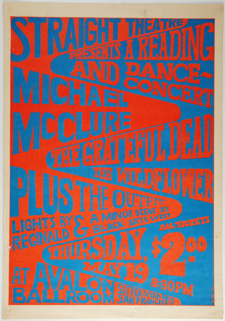 Straight Theater Makeup On Myself: Concert Poster Store — 1967