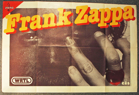 1980's Frank Zappa Original Subway Poster *Excellent 79*