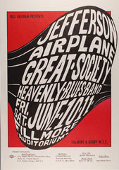 (BG-10) Jefferson Airplane, Fillmore Auditorium *Mint Condition*