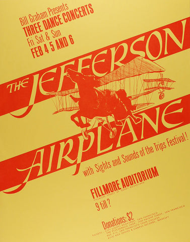 (BG-01) Jefferson Airplane, Fillmore Auditorium *Mint Condition*