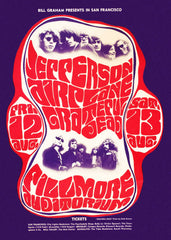 (BG-23) Jefferson Airplane, Fillmore Auditorium *Mint Condition*