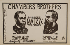 Chambers Brothers, Matrix (Handbill) *Mint 95*