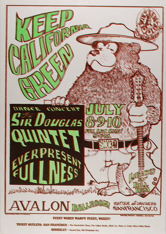 (FD-16) Sir Douglas Quintet, Avalon Ballroom *Mint Condition*
