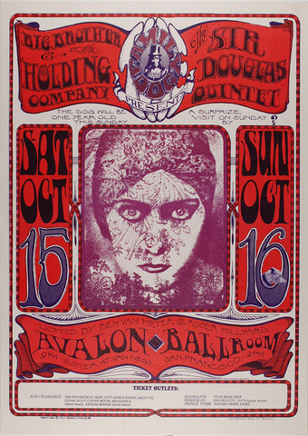 (FD-30) Big Brother & The Holding Company, Avalon Ballroom *Mint Condition*