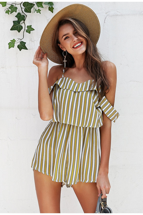 Women's High Waist Romper