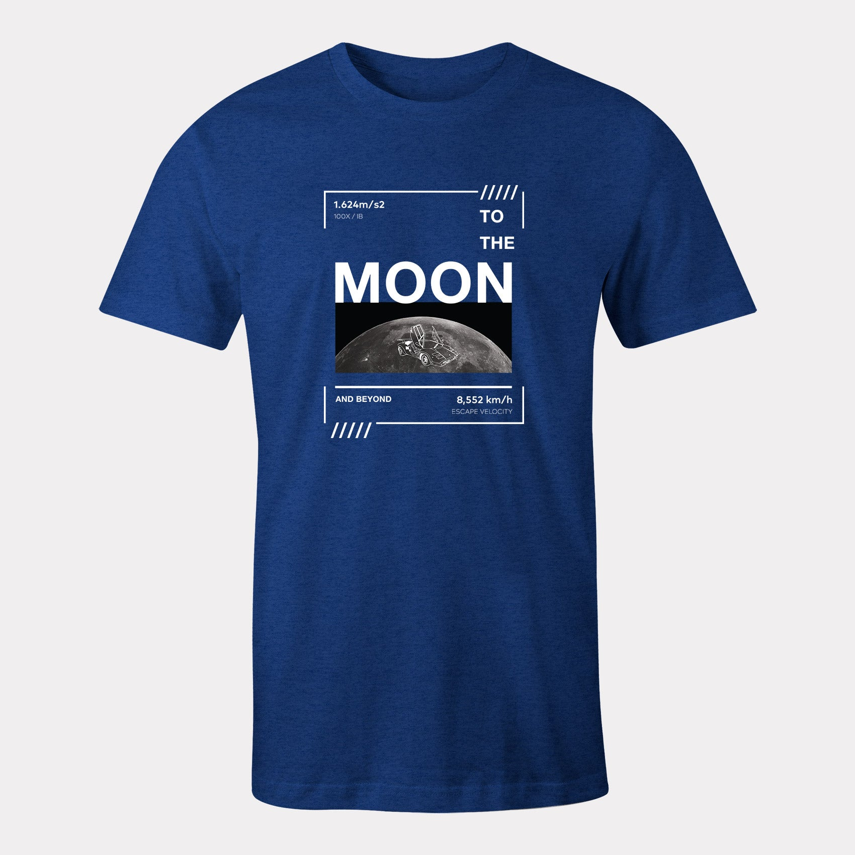 lambo on moon t-shirt