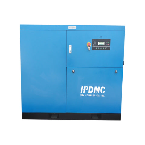 30HP Rotary Screw Air Compressor 125CFM@125PSI 460V/60Hz/3PH FM Variable Speed Drive-SC22-FMVSD HPDMC
