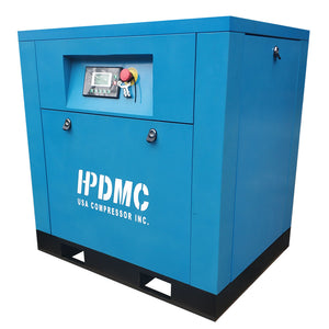 5.5HP Rotary Screw Air Compressor 19cfm@125psi 230V/60Hz/1PH Variable Speed Drive-DAC4 HPDMC