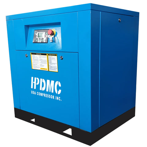 10HP Rotary Screw Air Compressor 39CFM @125PSI 230V/60Hz/1PH Variable Speed Drive-PACK7-VSD HPDMC