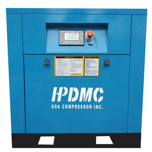 5.5HP VSD 230V Rotary Screw Air Compressor 19cfm@125psi 230V/60Hz/1PH Variable Speed Drive-DAC4 HPDMC