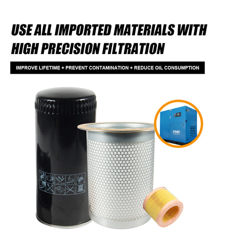 Image of Replace Oil filter WD962 & Built-in oil Separator DB2074 & air filter C14200  for 22kw Screw Compressor W962/LE9020X/C14200(free shipping)