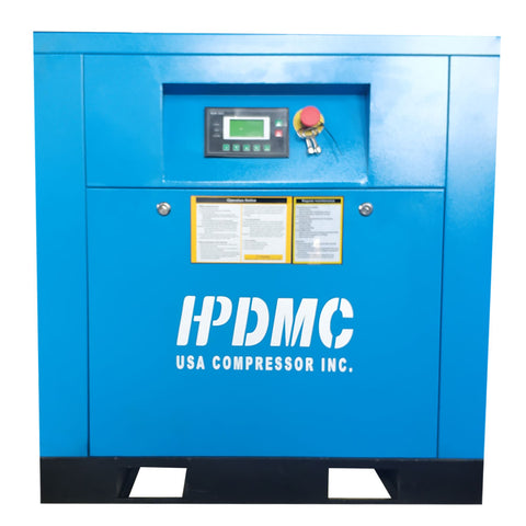 Image of 10HP Rotary Screw Air Compressor 39CFM @125PSI 230V/60Hz/1PH Variable Speed Drive-PACK7-VSD HPDMC