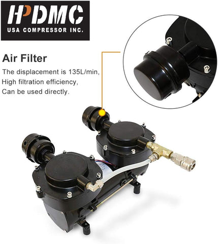 Image of HPDMC Hookah Diving Compressor 115psi 5cfm