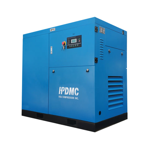 Image of Rotary Screw Air Compressor 30HP 230V/60Hz 3 Phase Efficient Built-in Oil Separator 125cfm@125psi High Efficiency & Low maintenance