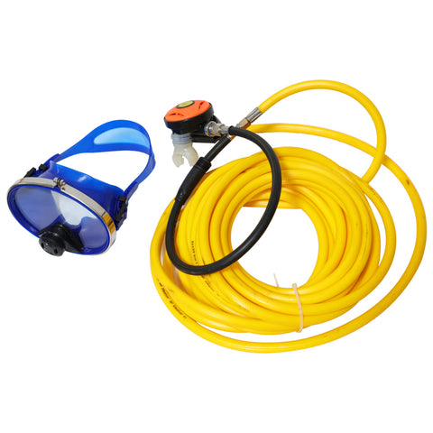 Scuba Diving Kayak Dive Kit with Regulator and Face Mask, 30ft Long Hose Gauge Scuba Diving Commercial Boat Cleaning Scuba