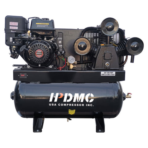 Image of Gas Driven Piston Air Compressor 13HP -  420CC Engine ASME 30gal Tank- for Service Trucks Fit for Ford F-150 Truck Bed -W-1/8P
