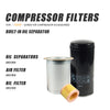 Replace Oil filter WD962 & oil Separator DB2186 & air filter C16400 fit for 50HP Screw Air Compressor