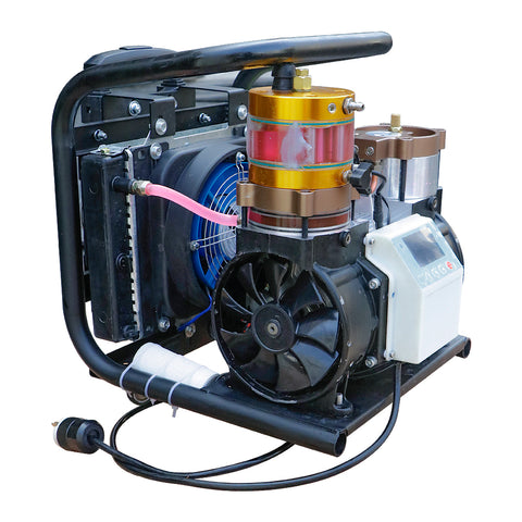 Image of HPDMC Oil-Free Air Compressor - 1.5 KW - 110v / 60Hz - 2.5cfm @ 4500 Psi(Max 6000 Psi) - Scuba Tank/PCP Rife/Paintball Air Gun Filling Station(free shipping)