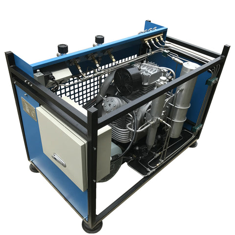 Image of 7.5 HP High-Pressure Air Compressor -  9.5 CFM - 4500 PSI - 230 Voltage / 60Hz / 3-Phase (SCU265)