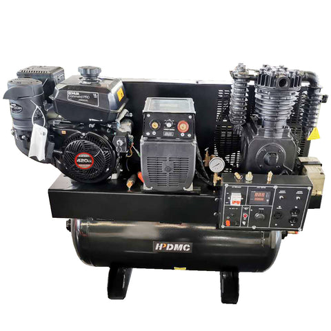 3-in-1 air compressor, 15HP generator and welder combo unit with LONCIN/CH440/19CFM engine and a 30 gal ASME tank-ZWG-05/180P
