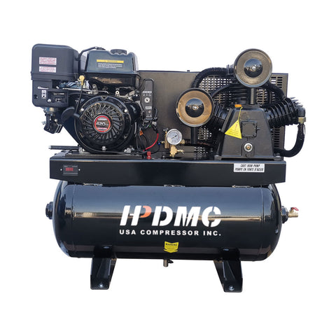 Image of Gas Driven Piston Air Compressor 13HP - Two Stage -  420CC Engine ASME Tank for Service Trucks Fit for Ford F-150 Truck Bed-W-0.8/12.5P