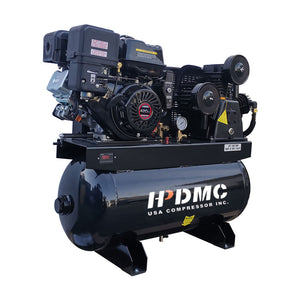 Gas Driven Piston Air Compressor 13HP - Two Stage -  420CC Engine ASME Tank for Service Trucks Fit for Ford F-150 Truck Bed-W-0.8/12.5P