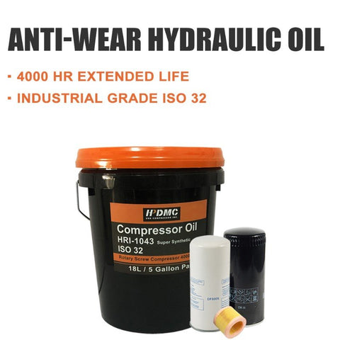 Rotary Screw Air Compressor Parts Synthetic Lubricant Oil 5GAL