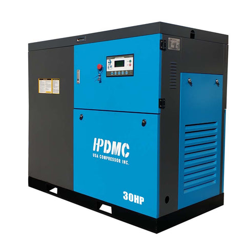 30HP VSD Rotary Screw Air Compressor 125CFM@125PSI 460V/60Hz/3PH-SC22-VSD HPDMC(Shipping included)