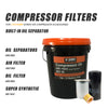 For 37kw Replace Oil filter WD962 & oil Separator DB2186 & air filter C16400 fit for 37kw/50HP Screw Air Compressor(free shipping)