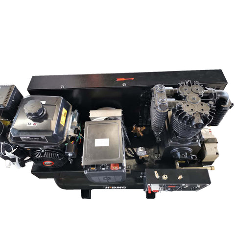 Image of 3-in-1 air compressor, 15HP generator and welder combo unit with LONCIN/CH440/19CFM engine and a 30 gal ASME tank-ZWG-05/180P