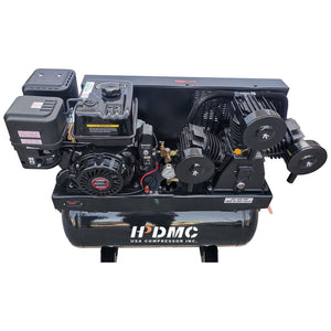 Gas Driven Piston Air Compressor 13HP -  420CC Engine ASME 30gal Tank- for Service Trucks Fit for Ford F-150 Truck Bed -W-1/8P