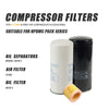 Replace Oil filter W940 & Spin-on oil Separator DF5010 & air filter C1140 fit for 5.5KW -7.5KW Screw Air Compressor