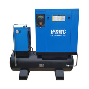 20HP Rotary Screw Air Compressor 81CFM 125PSI  230V/60Hz/3PH 80 Gallon Air Tank with Air Dryer PACK15-TA