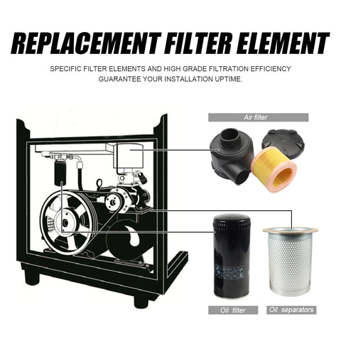 Image of For 22kw Replace Oil Filter WD962 & Oil Separator LE9020X/DB2074 & Air Filter C14200 fit for 22kw/30HP Screw Air Compressor(free shipping)