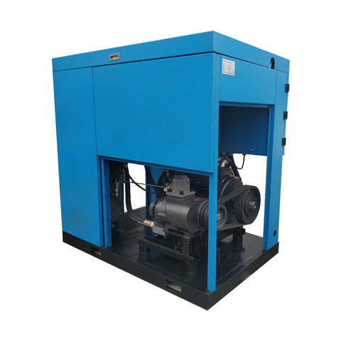 Image of 100HP  - 450 CFM @ 125 PSI - 460V/ 60Hz / 3-Phase Belt Driven - Heavy Duty Stationary  Rotary Screw Compressor