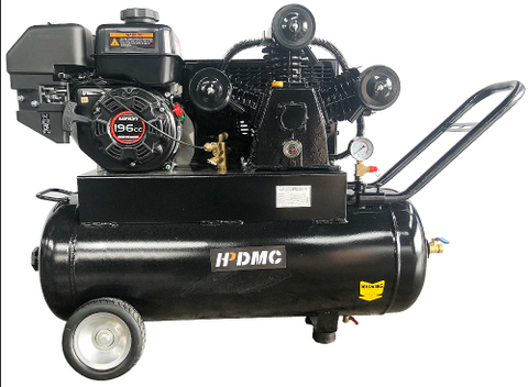 Image of Gas Driven Piston Air Compressor 6.5HP - One Stage - 20Gal Tank - 18cfm @ Max 125psi -LONCIN-3065