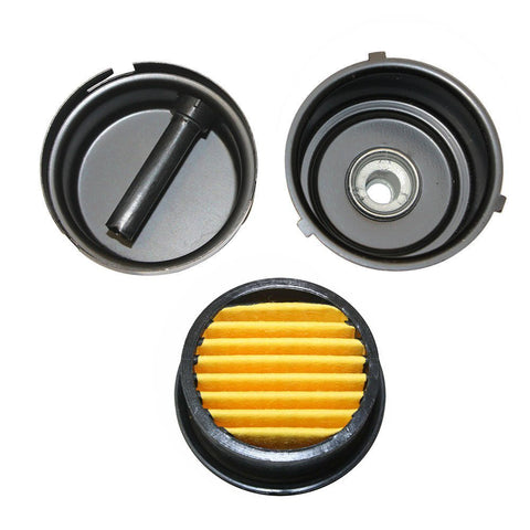 "BBT Air Compressor Intake Filter, 2 Pcs 20mm Thread Metal oil-less Air Compressor Air Filter Silencer Noise Muffler (1/2""PT 20mm) (2 Pcs)"