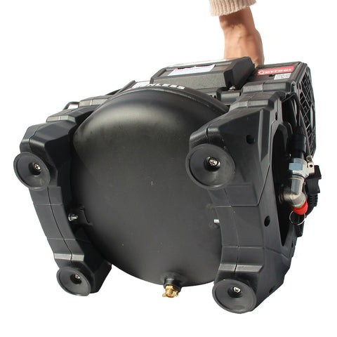 Image of HPDMC Cordless Air Compressor - 0.14 -0.9 Mpa - 20-130 PSI - 18V DC/ 110V AC Power - 500W - 1Gal Pan Tank - Portable Ultra Quiet