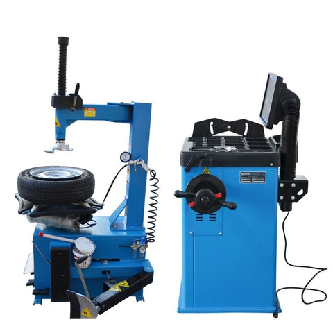 Image of 1.5HP Tire Changers Wheel Balancers Combo Semi-Automatic Rim Clamp Disassembly-950-680 COMBO(SHIPPING FREE)