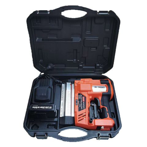 HPDMC Battery Powered Nail Gun - 18 GAUGE (1.05 X 1.25 mm) - 110V~240V,50/60Hz - 18V DC LI-ION BATTERY, 2000mAh Lithium Battery -100 NAILS(STAPLESS)