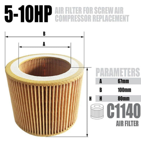 Image of Air filter 39CFM  for 5.5-10HP Rotary Screw Air Compressor Accessories-C1140