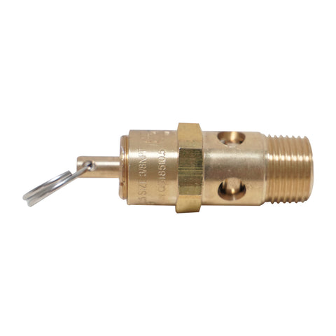 "Image of HPDMC ASME Standard Safety Valve - Air Compressor Relief Pressure Valve (3/8"" NPT, 125 PSI)"