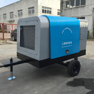 250cfm diesel screw compressor 80hp