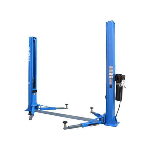 Image of 10000lbs 2 post lift vehicle lift auto hoist two post lift 110V baseplate dual sides unlock-AA-2PFP45(FREE SHIPPING)