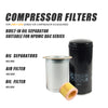 Replacement Accessary Oil filter W719/5 or W719/4 &  Built-in Oil Separator SMJ113 & Air filter C1140 fit for 4KW -7.5KW  Screw Air Compressor DAC series